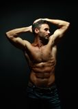 Portrait of topless athletic man Royalty Free Stock Photography