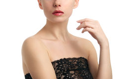 Portrait of topless young woman Royalty Free Stock Photo