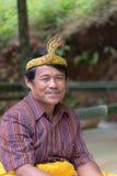 Portrait of Toraja People in traditional attire Stock Image