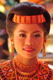 Portrait of a Toraja woman in traditional dress Stock Images