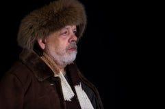 Portrait of tough senior man in winter clothes Royalty Free Stock Photos