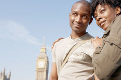Portrait of tourist couple on Westminster. Stock Photo