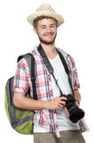 Portrait of a tourist Royalty Free Stock Photos