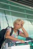 Portrait of a tourist woman Stock Images