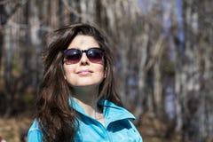 Portrait of  Tourists woman  enjoying the autumn  sun Royalty Free Stock Images