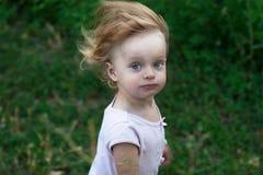 Portrait tousled little girl Stock Photo