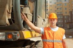 Portrait of tractor operator Stock Photo