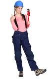 Portrait of a tradeswoman Stock Image