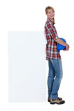 Portrait of a tradeswoman Stock Images
