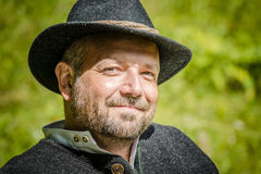 Portrait of traditional Bavarian man Royalty Free Stock Photo