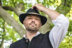 Portrait of traditional Bavarian man Royalty Free Stock Photo