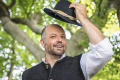 Portrait of traditional Bavarian man Royalty Free Stock Photos