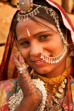 Portrait of traditional Indian woman Royalty Free Stock Image