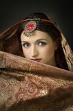 Portrait with traditionl costume. Indian style Royalty Free Stock Photo