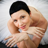 Portrait training ballerina Stock Photos