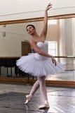 Portrait training ballerina Stock Images