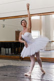 Portrait training ballerina Royalty Free Stock Image