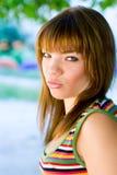 Portrait-trauriges junges Mädchen Lizenzfreie Stockfotos