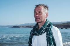 Portrait of traveler man Royalty Free Stock Image