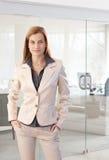 Portrait of trendy businesswoman Royalty Free Stock Photos