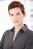 Portrait of trendy ginger woman Stock Photography