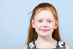 Portrait of trendy red-haired girl Stock Images