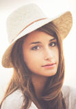 Portrait of Trendy Stylish Hipster Woman Royalty Free Stock Photos