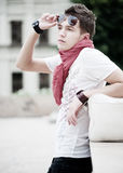 Portrait of trendy teenager Royalty Free Stock Images