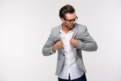 Portrait of a trendy young businessman stock photography