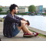 Portrait of a trendy young man Royalty Free Stock Photography