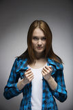 Portrait of a trendy young Russian woman Stock Image
