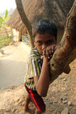 Portrait of tribal children in a village Baidyapur, India Stock Photography
