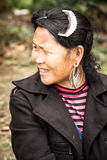 The portrait of tribal Hmong woman Stock Photo