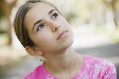 Portrait of Tween Girl Stock Photo