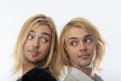 Portrait of twin brothers Royalty Free Stock Image