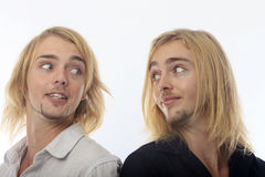 Portrait of twin brothers Royalty Free Stock Photography