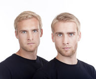 Portrait of twin brothers Royalty Free Stock Photos