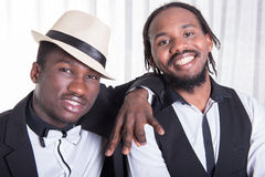 Portrait of two african guys.  Royalty Free Stock Images