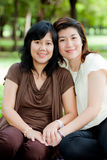 Portrait of two asian women Stock Images