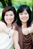 Portrait of two asian women Royalty Free Stock Photography