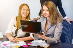 Business women working in office Royalty Free Stock Image
