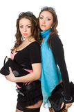 Portrait of two attractive young women Stock Images