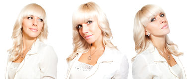 Sexy blonde twins Royalty Free Stock Photos