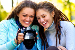 Portrait of  two beautiful girls Royalty Free Stock Photo