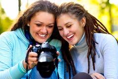 Portrait of  two beautiful girls Royalty Free Stock Photo