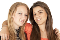 Portrait of two beautiful girls Royalty Free Stock Photos
