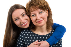Portrait of two beautiful happy woman Stock Images