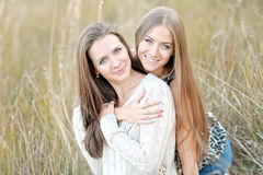 Portrait of two beautiful sisters Royalty Free Stock Images