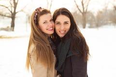 Portrait of two beautiful women Stock Photo