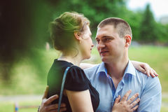 Portrait of two beautiful young lovers Stock Image